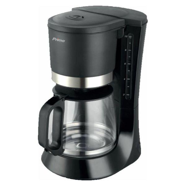 Καφετιέρα ECO Χωρητικότητα 1.2L – 10 φλυτζάνια καφέ Σύστημα μη σταξίματος Υάλινη κανάτα καφέ φίλτρου Θερμαινόμενη πλάκα Αποσπώμενο και πλενόμενο μόνιμο φίλτρο Ένδειξη στάθμης νερού Σύστημα εξοικονόμησης ενέργειας: η συσκευή σβήνει αυτόματα μετά την πάροδο συγκεκριμένου χρόνου μετά την χρήση  Συσκευή σύμφωνη με τις απαιτήσεις ECODESIGN της Ευρωπαϊκής Ένωσης Ισχύς: 680W