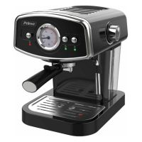 Καφετιέρα espresso/cappuccinoΤύπος καφέ: Αλεσμένος2 φλυτζάνια καφέΠίεση 19barΜεγάλο στρογγυλό αναλογικό display θερμοκρασίας ώστε να παρακολουθείται η θερμοκρασία στο λέβηταΔιακόπτης ρύθμισης ατμούΤαυτόχρονη ροή καφέ σε 2 φλυτζάνιαΑποσπώμενο δοχείο νερού χωρητικότητας 1.2LΒαλβίδα ασφαλείαςΛέβητας παραγωγής ατμού από χυτό κράμα αλουμινίουΑνοξείδωτα φίλτρα για μία ή δύο δόσεις καφέ3 διακόπτες λειτουργίαςΦωτεινές ενδείξεις λειτουργίας και ετοιμότηταςΣύστημα ασφαλείας κατά της υπερθέρμανσηςΑποσπώμενο στόμιο ατμού/αφρούΑποσπώμενος δίσκος συλλογής υγρών με μεταλλική σχάραΠλάκα προθέρμανσης φλυτζανιώνΣύστημα εξοικονόμησης ενέργειας: η συσκευή σβήνει αυτόματα μετά την πάροδο συγκεκριμένου χρόνου μετά την χρήσηΣυσκευή σύμφωνη με τις απαιτήσεις ECODESIGN της Ευρωπαϊκής 'ΕνωσηςΙσχύς: 1050W