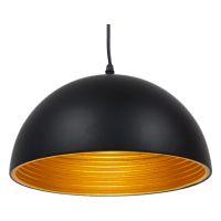 GloboStar® CHIME 01004 Μοντέρνο Κρεμαστό Φωτιστικό Οροφής Μονόφωτο Μαύρο Μεταλλικό Καμπάνα Φ30 x Y15cm