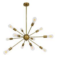 GloboStar® MILANO 01485 Μοντέρνο Industrial Φωτιστικό Οροφής Πολύφωτο Χρυσό Μεταλλικό Φ80 x Y78cm