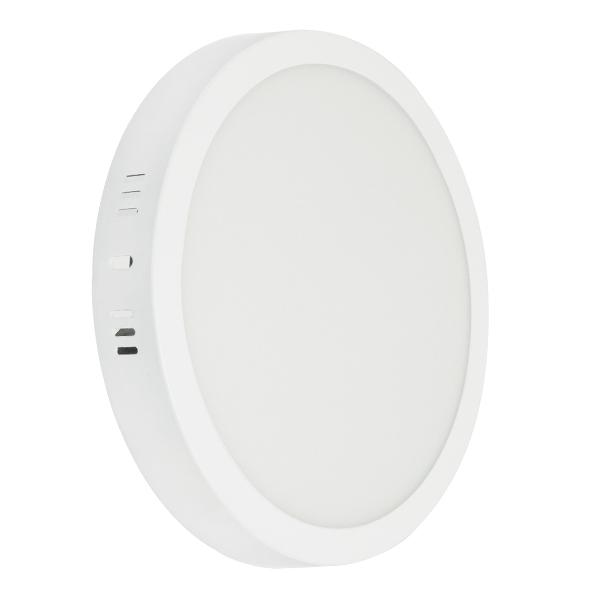 Πάνελ PL LED Οροφής Στρογγυλό Εξωτερικό 20W 230v 1820lm 180° Θερμό Λευκό 3000k GloboStar 01789
