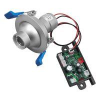 Επαγγελματικό Χωνευτό Προβολάκι Laser 2° 300Mw 447Nm Φ7cm 12V Μπλε GloboStar 51140