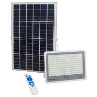 GloboStar® 71562 Αυτόνομος Ηλιακός Προβολέας LED SMD 300W 36000lm με Ενσωματωμένη Μπαταρία 25500mAh - Φωτοβολταϊκό Πάνελ με Αισθητήρα Ημέρας-Νύχτας και Ασύρματο Χειριστήριο RF 2.4Ghz Αδιάβροχος IP66 Ψυχρό Λευκό 6000K