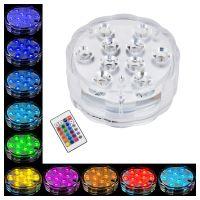 GloboStar® 79626 Υποβρύχια Διακοσμητική Φωτιζόμενη Βάση LED 5W για Μπουκάλια - Ποτήρια - Βάζα - Ναργιλέ Μπαταρίας με Ασύρματο Χειριστήριο IR Αδιάβροχη IP68 Πολύχρωμη RGB Dimmable