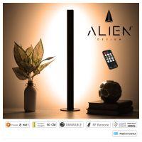 GloboStar® ALIEN-DIVA-BLACK-50-3 ALIEN Design DIVA Μοντέρνο Minimal Nordic Μεταλλικό Φωτιστικό Επιτραπέζιο - Πορτατίφ - Λαμπατέρ Μαύρο LED 8W 960lm με Ασύρματο Χειριστήριο RF & Dimmer IP20 Θερμό Λευκό 3000K Μ3 x Π1.6 x Υ50cm