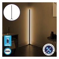 Μοντέρνο Minimal Επιδαπέδιο Μαύρο Φωτιστικό 100cm LED 16 Watt με Ασύρματο Χειριστήριο RF & Dimmer Φυσικό Λευκό 4500k GloboStar ALIEN Design GLOBO-100-2