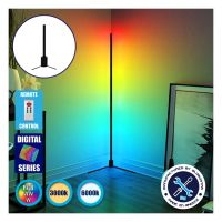 Μοντέρνο Minimal Επιτραπέζιο Μαύρο Φωτιστικό 50cm LED 8 Watt με Ασύρματο Χειριστήριο 2.4G RF & Dimmer RGBW+WW Πολύχρωμο Digital Magic Dot Pixel GloboStar ALIEN Design GLOBO-50-11