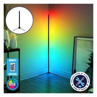 Μοντέρνο Minimal Επιτραπέζιο Μαύρο Φωτιστικό 50cm LED 8 Watt με Ασύρματο Χειριστήριο RF & Dimmer RGB Πολύχρωμο GloboStar ALIEN Design GLOBO-50-8