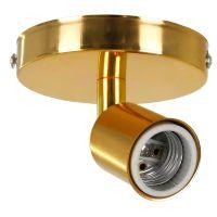 GloboStar® SARA 00845 Μοντέρνο Φωτιστικό Οροφής / Τοίχου Μονόφωτο 1xE27 Μεταλλικό Χρυσό Φ10 x Υ10.3cm