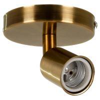 GloboStar® SARA 00846 Μοντέρνο Φωτιστικό Οροφής / Τοίχου Μονόφωτο 1xE27 Μεταλλικό Μπρονζέ Χρυσό Φ10 x Υ10.3cm