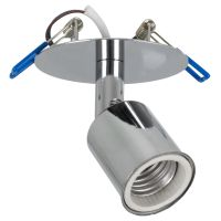 GloboStar® SARA 00850 Μοντέρνο Χωνευτό Φωτιστικό Οροφής / Τοίχου Μονόφωτο 1xE27 Μεταλλικό Ασημί Νίκελ Φ8 x Υ8.5cm