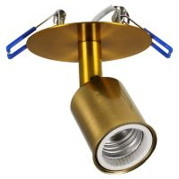 GloboStar® SARA 00852 Μοντέρνο Χωνευτό Φωτιστικό Οροφής / Τοίχου Μονόφωτο 1xE27 Μεταλλικό Μπρονζέ Χρυσό Φ8 x Υ8.5cm